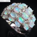 925 Sterling Silver Ring, 2017 Fashion <b>Jewelry</b> With Huge Ovel Fire opal women Cocktail Prom <b>Accessories</b> Lover Gift R1653