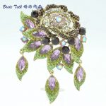 Bayliner <b>Art</b> <b>Deco</b> Leaf Flower Rose Brooch Pin Pendant Rhinestone Crystal Brooches Accessories For Women 's <b>Jewelry</b> 6454