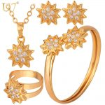 U7 Bridal <b>Jewelry</b> Women Set Gold/Silver Color Lucky Star 3 Pieces Adornment <b>Jewelry</b> Set For Wedding <b>Accessories</b> S593