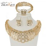 MUKUN Best Quality fashion Bridal <b>Jewelry</b> Set glamour women bracelet ring Circle Necklace Earrings Wedding dress <b>accessories</b>