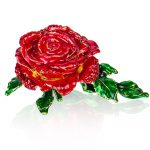 H&D Gifts for Valentine's Day Creative Metal Rose Trinket Box <b>Jewelry</b> Display Earring Ring Storage Figurines Wedding Home Decor