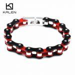 Kalen New Arrival Bike Chain Bracelets 22cm Stainless Steel Bicycle Link Chain Bracelets Men's <b>Jewelry</b> <b>Accessories</b> Gifts