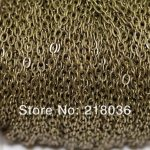 <b>Antique</b> Gold /Bronze Cable Open Link Iron Metal Chain For Necklaces Bracelet Accessories DIY <b>Jewelry</b> Findings 100m 3*2 mm N1551
