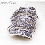 Vecalon <b>Antique</b> Big ring Women Men <b>Jewelry</b> 20ct AAAAA Zircon cz 925 Sterling Silver Engagement wedding Band ring for women