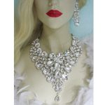 Statement crystal <b>jewelry</b> sets bridal wedding party necklace earrings water drop silver <b>jewelry</b> <b>accessories</b> for women <b>jewelry</b>