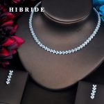 HIBRIDE Classic Round Cut AAA Cubic Zirconia <b>Jewelry</b> Sets For Women Earring Necklace Sets Wedding <b>Accessories</b> Party Gifts N-496