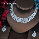 HIBRIDE New Brilliant Full Cubic Zirconia Women Bride <b>Jewelry</b> Sets Earring Set Wedding <b>Accessories</b> Gifts Wholesale Price N-433