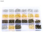 2018Mix Gold/Silver/<b>Antique</b> Gold Color Material T-Pin/Lobster/Jump Ring/Eye Bolts Nails/Stopper In One Box DIY <b>Jewelry</b> Finding