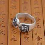 Deer King Crown ring S990 silver <b>jewelry</b> wholesale Silver <b>Antique</b> Style opening gift