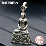 BALMORA 925 Sterling Silver Buddha Pendants for Women <b>Accessories</b> Vintage Thai Silver Religious <b>Jewelry</b> High Quality SY10277