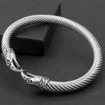 Mens Eagle Bracelets Stainless Steel Hawk Twisted Cable Bangle Cuff Bracelet in Silver-Color Men <b>Jewelry</b> <b>Accessories</b> Pulseira