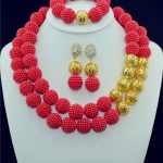 <b>Accessories</b> Wedding African Beads New <b>Jewelry</b> Sets Gold-color Crystal Vintage Costume Earring Bracelet Necklace Set