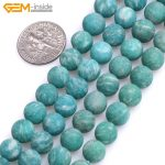 Gem-inside Natural Frosted Matte <b>Antiqued</b> Green Russia Amazonite Stone Beads For <b>Jewelry</b> Making 15inches DIY Jewellery