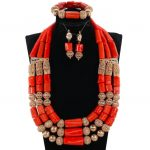 Dubai Gold <b>Accessory</b> Original Coral African Wedding <b>Jewelry</b> Set Nigerian Coral Beads Women <b>Jewelry</b> Set Free Shipping CL3-92