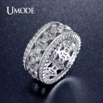UMODE Classic Rings For Women White Gold Color Simulated Ring <b>Jewelry</b> Fashion <b>Accessories</b> 2017 New Arrival AUR0322