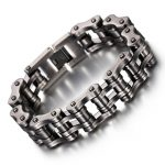 Biker Bicycle Motorcycle Chain Man Bracelets&Bangle Gun Black Stainless Steel Bracelet Men's Fashion <b>Jewelry</b> <b>Accessories</b>