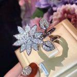 XIFAN Romantic Wedding Flower Ring <b>Jewelry</b> Xubic Zirconia Ring For Women Plating 925 pure silver Ring <b>Accessories</b>