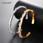 Collare Crystal Bangles For Women Gold/Silver Color CZ <b>Accessories</b> Cuff Bangles & Bracelets Wholesale Gift <b>Jewelry</b> H236