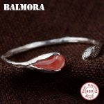 BALMORA Authentic 925 Sterling Silver <b>Jewelry</b> Magnolia Flower Cute Open Bangles for Women Lover <b>Accessories</b> Gifts Bijoux SY50191