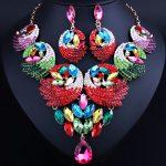 FARLENA <b>Jewelry</b> Luxurious Crystal Feather Shape Statement Necklace Earrings Dubai Bridal <b>Jewelry</b> Sets Wedding <b>Accessories</b>