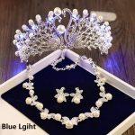 Girls Birthday Party Light Tiara Crown Necklace Earrings <b>Jewelry</b> Sets Wedding Bridal Tiaras <b>Jewelry</b> Women Hair <b>Accessories</b> HG158