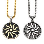 Sunflower Locket Can Open Pierced Filigree <b>Antique</b> Bronze Essential Oil Aroma Diffuser Necklace with Colorful Pads