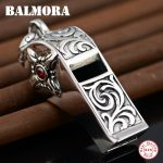 BALMORA 925 Sterling Silver Whistle & Cross Design Pendants for Men Vintage <b>Jewelry</b> <b>Accessories</b> Gift Without a Chain SY10500