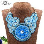 TengMaxi Exaggerated Bohemia Necklace&Pendants For Women Statement Beads Necklace <b>Antique</b> Tribal Ethnic Boho Fashion <b>Jewelry</b>