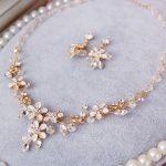 Jonnafe Handmade Flower Crystal Bridal <b>Jewelry</b> Sets Gold Necklace Earrings Wedding <b>Jewelry</b> Set For Brides Women <b>Accessories</b>