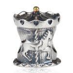 Authentic 925 Sterling Silver Bead Charm <b>Antique</b> European merry-go-round Beads Fit Pandora Bracelet & bangle DIY <b>jewelry</b>