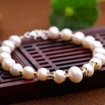 Wholesale Natural fresh water pearl Bracelets golden beads <b>accessories</b> Healing Reiki Women Charming Fashion <b>Jewelry</b>