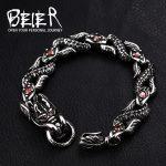 Beier 316L Stainless Steel bracelet punk dragon celet For Punk Biker <b>Accessories</b> Men's <b>Jewelry</b> LLBC8-017R