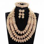 Dubai <b>Jewelry</b> Set Luxury Gold Color Big Nigerian Wedding African Beads <b>Jewelry</b> Set Costume <b>Accessory</b> <b>Jewelry</b> Design WE177