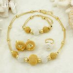 2018 Fashion Africa <b>Jewelry</b> Sets Bridal Gifts Nigeria Wedding <b>Accessories</b> Italy Gold Lantern Necklace Wholesale Women <b>Jewelry</b>