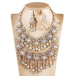 Bridal <b>Jewelry</b> Sets Crystal Rhinestone Flower Wedding Necklace and Earrings Sets For Women Trendy Party <b>Jewelry</b> Sets <b>Accessories</b>