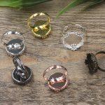 100pcs 15mm Crown Pad ring blank Cameo Tray,<b>Antique</b> Bronze/Gold/Silver Ring setting,Handmade DIY Zakka <b>jewelry</b> Finding