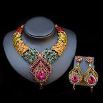 Luxury Colorful Bridal <b>Jewelry</b> Sets Wedding Necklace Earring For Brides Party <b>Accessories</b> Flowers Decoration Gift Women