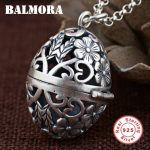 BALMORA 1 Piece Authentic 925 Sterling Silver Vintage Hollow Flower Pendants for Necklaces Women <b>Accessories</b> <b>Jewelry</b> SY11977