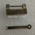 1PC Vintage <b>Antique</b> Iron Chinese Old Lock Retro Brass Padlock <b>Jewelry</b> Wooden Box Padlock Lock for Suitcase Drawer Cabinet + Key