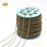 10Meters Bulk Rosary Chains Findings,Plated <b>Antique</b> Bronze Copper Chains,Chains Handmade Bracelet Charms Healing Necklace ZJ150
