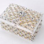 Square Silver <b>Jewelry</b> Trinket Box <b>Antique</b> Pewter Casket Gift Magnet Metal Craft Dressing Case