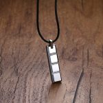 Mens Boy Choker Chocolate Bar Shape Tungsten Carbide Pendant Black Rubber Cord Necklace Colar Fashion <b>Accessories</b> Men <b>Jewelry</b>
