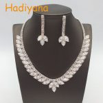 HADIYANA Sparkling rhinestone 2pcs sets sliver plated wedding bridal <b>Jewelry</b> <b>accessory</b> for bride/party/gift new design BN5534