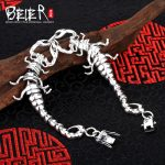 Vintage hand chain Beier 925 sterling silver bracelet centipede link chain animal bracelet men <b>accessories</b> <b>Jewelry</b> SCTYL0150
