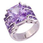 <b>Art</b> <b>Deco</b> Style Tourmaline 925 Silver Ring Size 7 8 9 10 Created Emerald Cut New Fashion <b>Jewelry</b> Gift For Women Wholesale
