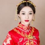 Handmade Chinese Style Hair <b>Jewelry</b> Sets Bridal Headpiece Necklace Statements Hair Sticks Ornament for Wedding Costume <b>Accessory</b>