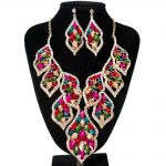 Bridal <b>Jewelry</b> Sets Crystal Rhinestone Gold Color Wedding Necklace and Earrings Sets for Women Trendy <b>Jewelry</b> Sets <b>Accessories</b>