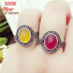 100% Sterling 925 Silver DIY <b>Jewelry</b> Adjustable Oavl Ring Blank Inner 8*10MM Setting Gemstone Base Tray <b>Antique</b> Silver Plate