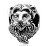 <b>Antique</b> Tone Authentic 925 Sterling Silver Big Hole Lion King Animal European Charm Beads Fine <b>Jewelry</b> Accessories SAPB3115
