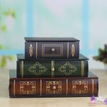<b>Antique</b> style book type three layers drawer resin <b>jewelry</b> box dressing table home decoration accessories